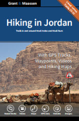 Cover Hiking in Jordan - Ebook version - Trails in and around Wadi Araba and Wadi Rum - Grant & Maassen