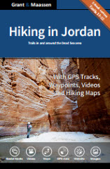 Cover Hiking in Jordan - Ebook version - Trails in and around the Dead Sea area - Grant & Maassen.