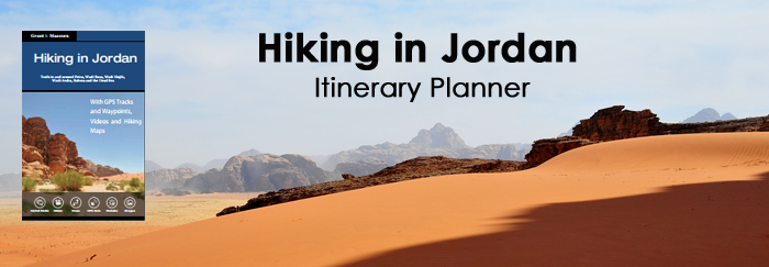 Hike Itinerary Planner Hiking in Jordan Guidebook and Website